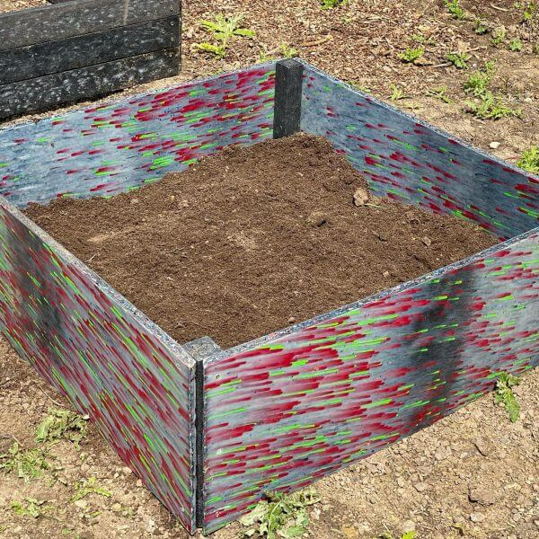 Raised bed allotment planter fruit herbs vegetables flowers recycled plastic material sustainable