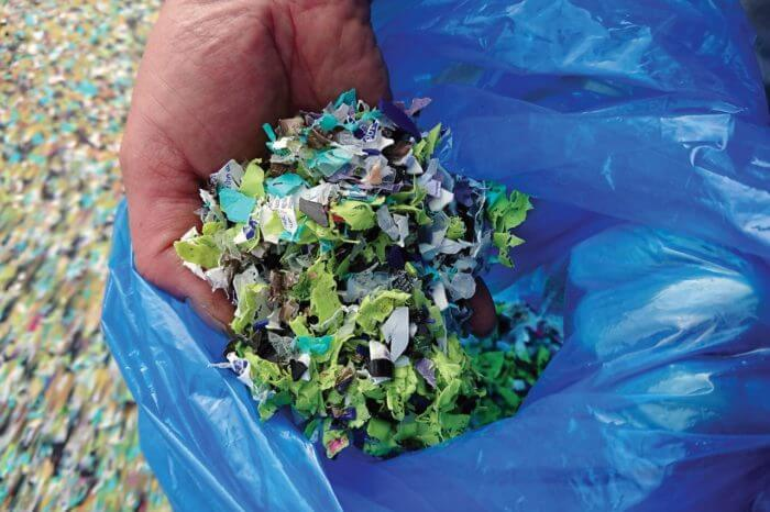 5mm shredded plastic recycling process