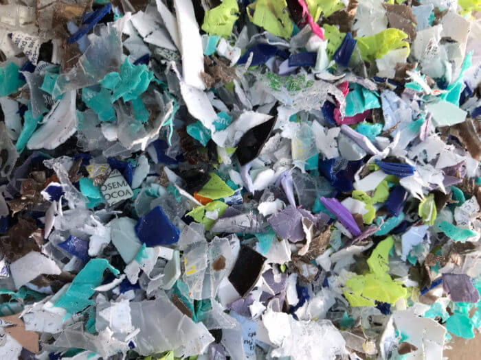 shredded plastic recycling box