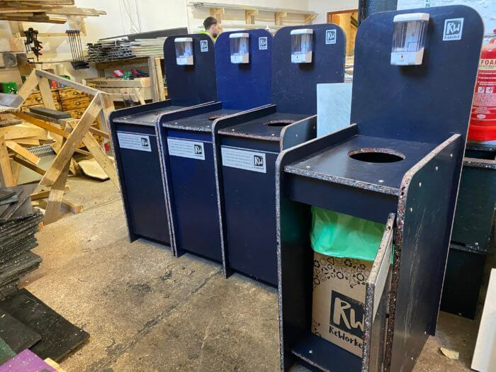 reclaim the mask PPE recycling bins