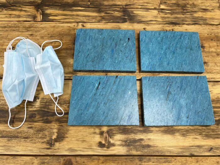 PPE recycling plastic tiles