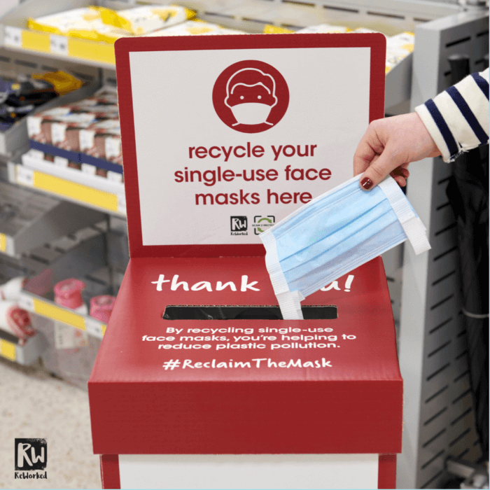 wilko #reclaimthemask ppe single-use facemask recycling scheme reworked