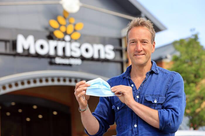 Ben Fogle The Sun Facemask Recycling bin ReWorked Morrisons