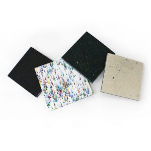 Stormboard samples ReWorked recycled plastic sheets