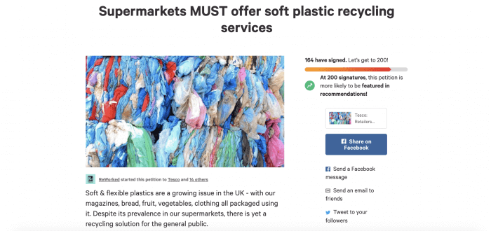 Demand rises for soft plastic recycling in UK supermarkets