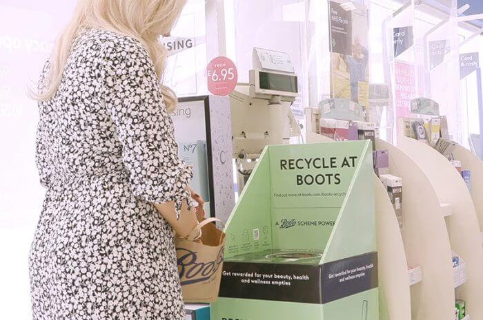 Recycle at Boots